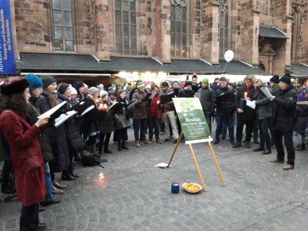 Singen auf dem Weihnachtsmarkt 09.12.2017