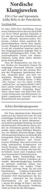 Rhein-Neckar-Zeitung, 01./02. August 2015