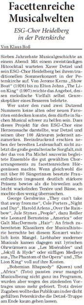 Rhein-Neckar-Zeitung, 27.Juli 2016