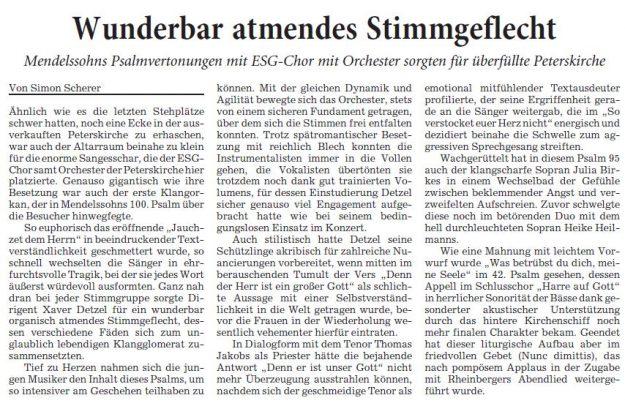 Rhein-Neckar-Zeitung, 07. Februar 2017