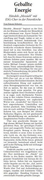 Konzertkritik Rhein-Neckar-Zeitung, 9. Februar 2018